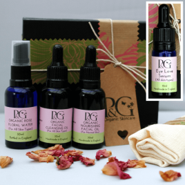 Organic Facial Skincare Ritual 30ml Oils + Eye Serum 10ml