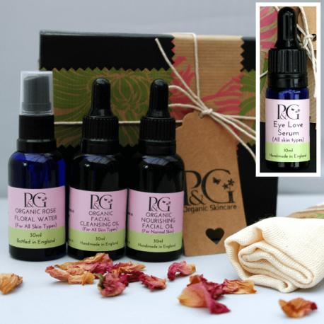 Organic Facial Skincare Ritual 30ml Oils + Eye Serum 10ml