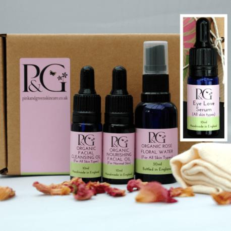 Organic Facial Skincare Ritual 10ml Oils + Eye Serum 10ml