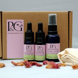 Organic Facial Skincare Sample Kit