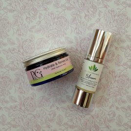 Luxury Cooling Organic Blossom Menopause Cream (30ml) and Hydrate & Renew Gel (100g)