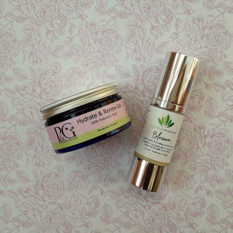 Organic Blossom Menopause Cream and Hydrate & Renew Gel