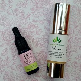 Luxury Cooling Organic Blossom Menopause Cream (30ml) and Organic Rejuvenating Facial Oil – For Mature Skin (10ml)