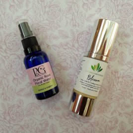 Luxury Cooling Organic Blossom Menopause Cream (30ml) and Organic Floral Rose Water (30ml)