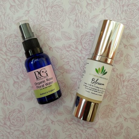 Organic Blossom Menopause Cream and Rose Floral Water