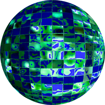 Global Recycling Day 2020 - a conceptual blue and green globe