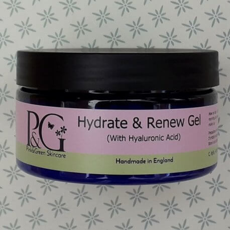 Pink&Green Hydrate and Renew Gel with hyaluronic acid.