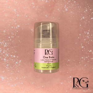 One Balm from Pink & Green organic skincare.