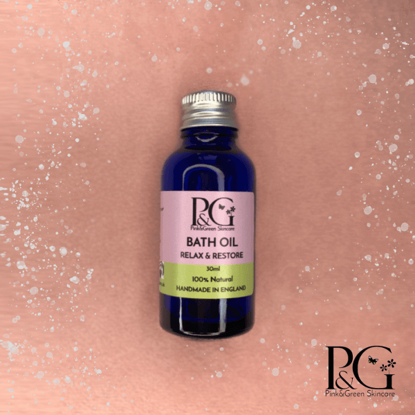 2 Ways to Enjoy Cosy Autumn Nights In - Pink&Green relax and restore bath oil