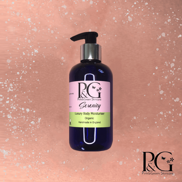 2 Ways to Enjoy Cosy Autumn Nights In - Pink&Green Serenity Luxury body lotion